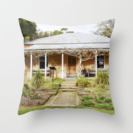 The Garden of St Erth Blackwood Throw Pillow
