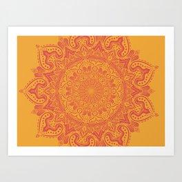 Rasberry Tangerine Art Print