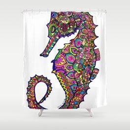 Seahorse colourful mandala Shower Curtain