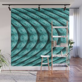 Teal Shimmer #3 Wall Mural