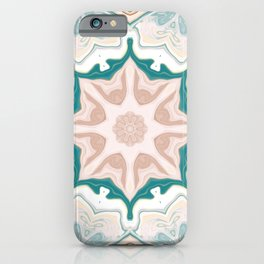 Southwestern Marble Desert Fountain Kaleidoscope Abstract Digital Painting iPhone Case