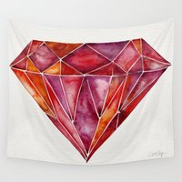 ruby Wall Tapestries featuring Million-Carat Ruby by Cat Coquillette
