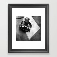 A little piece of quiteness and coffee Framed Art Print