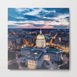 Sunset Wisconsin Metal Print