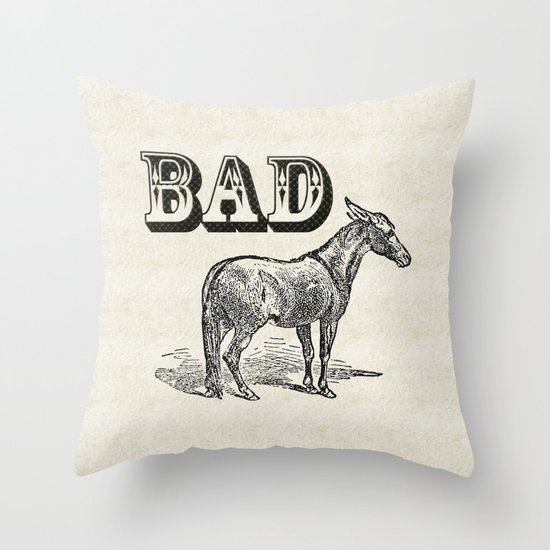 Bad Ass Throw Pillow