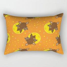 Bat Neck Gaiter Brown Bats Neck Gator Rectangular Pillow