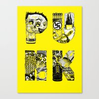 punk Canvas Prints featuring PUNK by René Barth