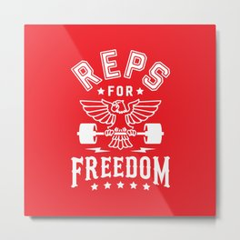Reps For Freedom v2 Metal Print
