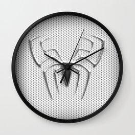 Spider Steel Chrome Wall Clock