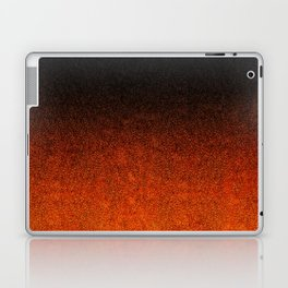 Orange & Black Glitter Gradient Laptop & iPad Skin