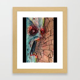 screaming zombie Framed Art Print
