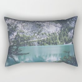 Pragser Wildsee lake Italy Rectangular Pillow