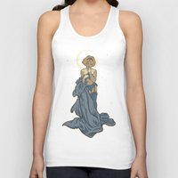 mucha Tank Tops featuring Mucha Pin Up Girl by Karen Hallion Illustrations