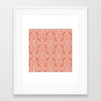 peach Framed Art Prints featuring Peach by katharine stackhouse