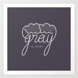 Gray/Grey Art Print