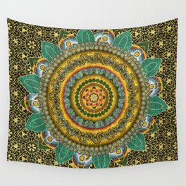 Malachite Baroque Mandala Wall Tapestry