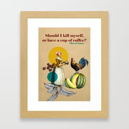 Coffee Quote Print Framed Art Print