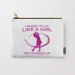 Golf like a girl Carry-All Pouch
