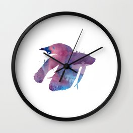 Siamese Figthing Fish - Betta Splendens Wall Clock