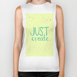 Motivation to be creative. Just create colorful lettering. Biker Tank