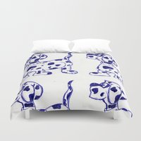 sketch Duvet Covers featuring sketch by Shelby Claire