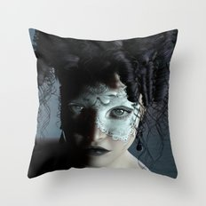 Midnight masquerade Throw Pillow