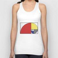 fibonacci Tank Tops featuring Mondrian vs Fibonacci by Psocy Shop