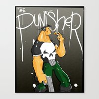 punisher Canvas Prints featuring The Punisher by Pahito