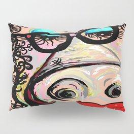 Hipster Pig Pillow Sham