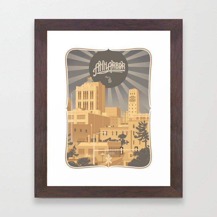 Ann Arbor Framed Art Print