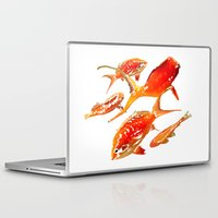goldfish Laptop & iPad Skins featuring Goldfish by Regan's World