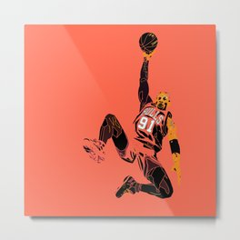 "Rodman Art and Poster AKA ""The Worm"" Metal Print"