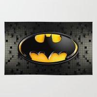 bat man Area & Throw Rugs featuring BAT MAN by BeautyArtGalery