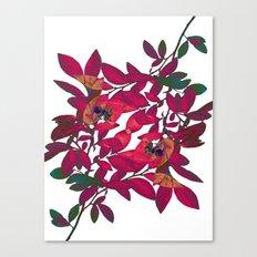 Blueberry branch - Pink Canvas Print
