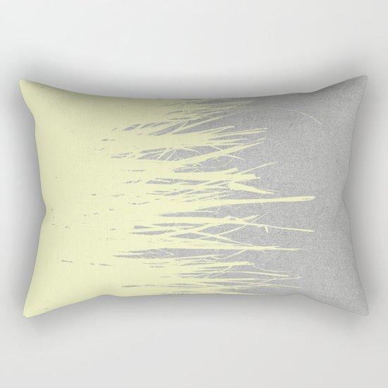 Concrete Fringe Yellow Rectangular Pillow