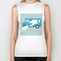icecream Biker Tanks featuring ICECREAM by La Farme