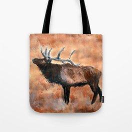 North American Elk Acrylics On Paper  Tote Bag