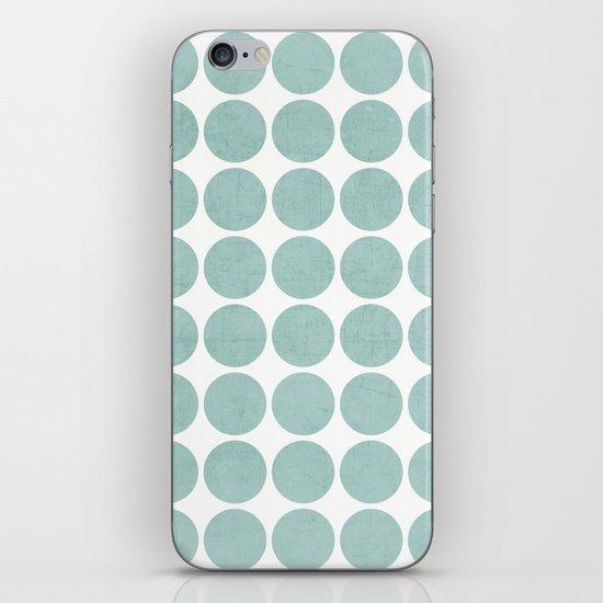 robins egg blue dots iPhone & iPod Skin
