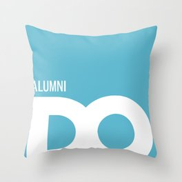 Cropped D.O. Alumni Logo Throw Pillow