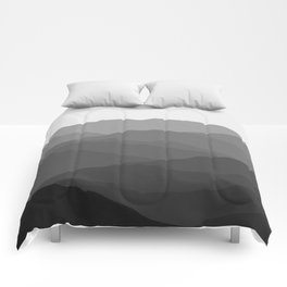 Shades of Grey Mountains Comforters