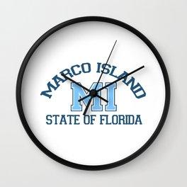 Marco Island - Florida. Wall Clock
