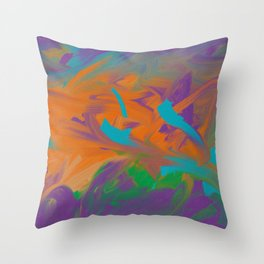 Baby Graffiti Throw Pillow
