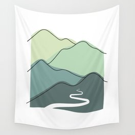 Foggy hills (shades of green) Wall Tapestry
