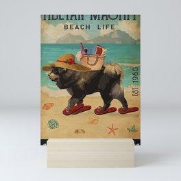 Beach Life Sandy Toes Tibetan Mastiff dog gift Mini Art Print