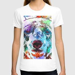 Polar Bear Watercolor Grunge T-shirt