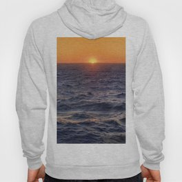 High Sea Windy Storm At Sunset Hoody