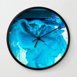 Flaming June > Flaming Blue (Frederick Leighton) Wall Clock