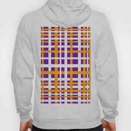 Purple & Orange Interlocking Stripes Hoody