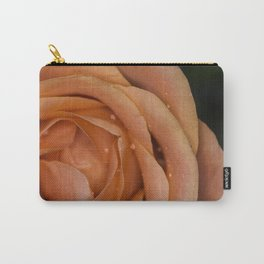 Glistening Dew on a Peach Rose Carry-All Pouch