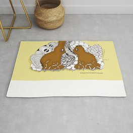 Chocolate Easter Bunny Problems Children Illustrations Rug